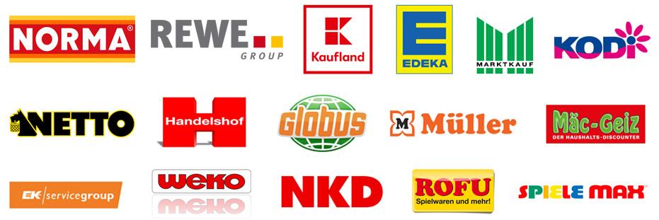 Partner-Logos Aktionsware und Rackjobbing Bücher